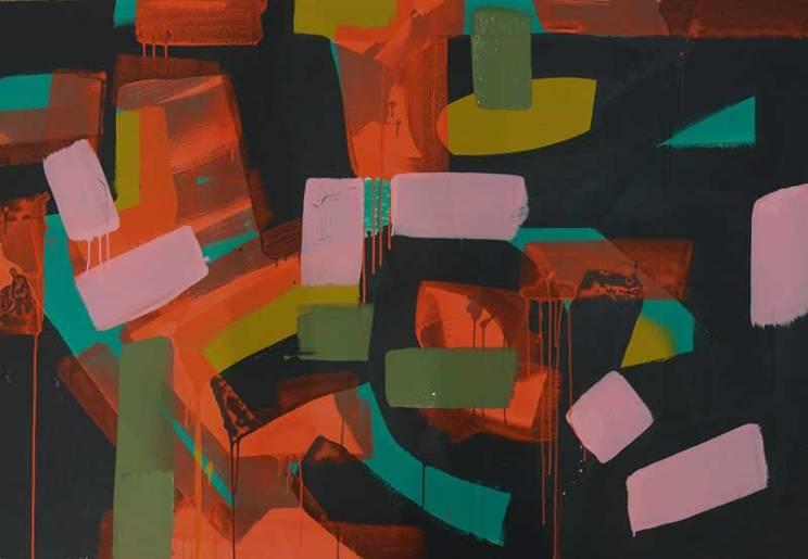 1-2107, 44x63, flashe & house paint on canvas