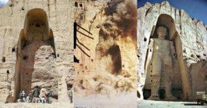 3rd -4th century A.D, 37 meter high,(Shakyamuni) Buddha demolished by Taliban with 50,000 kilograms dynamite on March 12, 2001 in Karachi, Afghanistan.