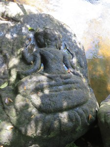 Brahma sits on Lotus flower, Valley of 1000 Lingas, Cambodia