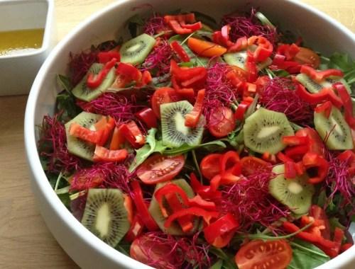Salat med rødbedespirer