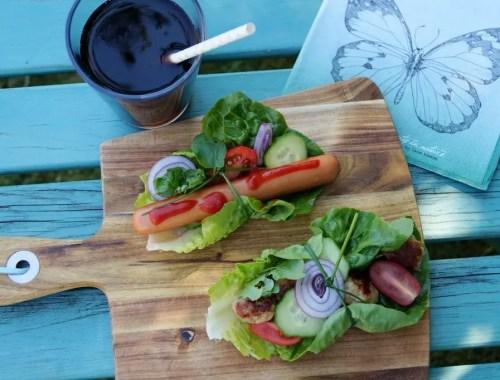 Salat-hotdogs