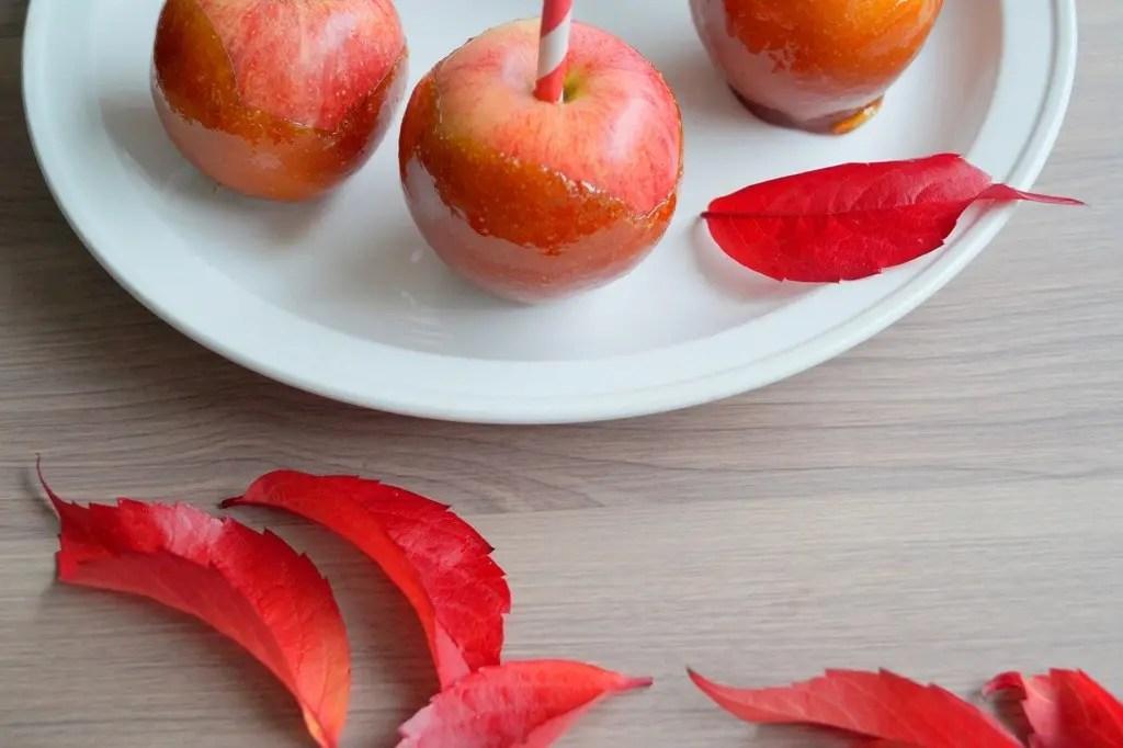 Karamelliserede æbler
