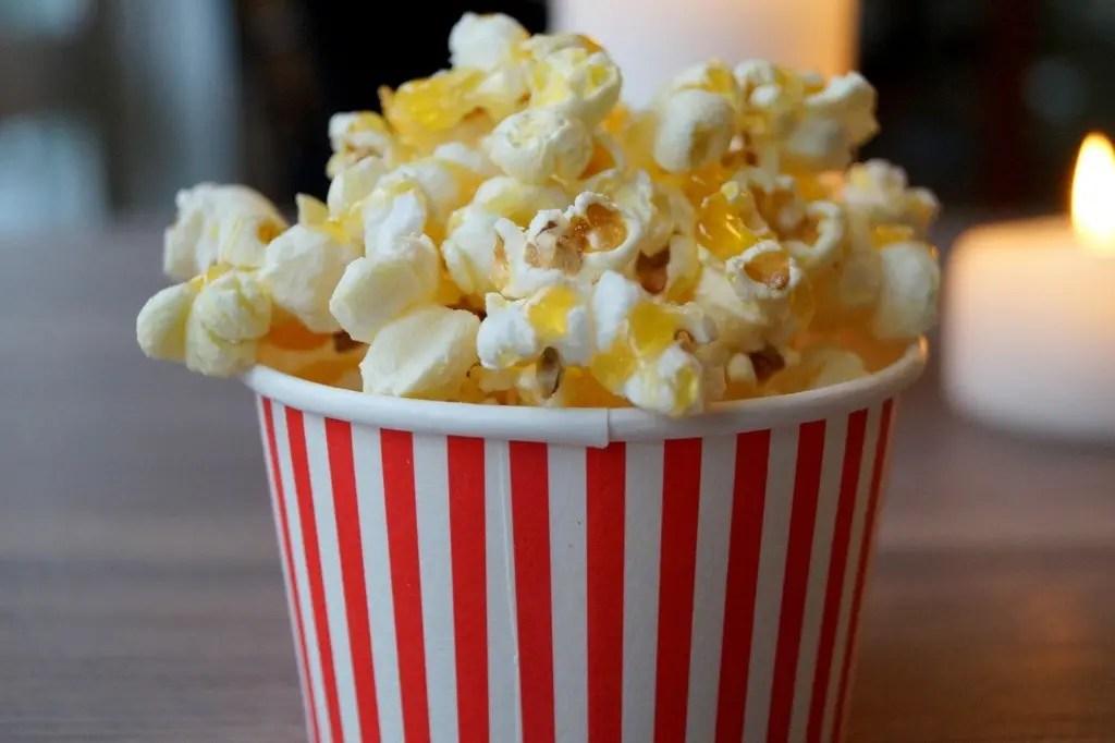 Popcorn med karamel og havsalt