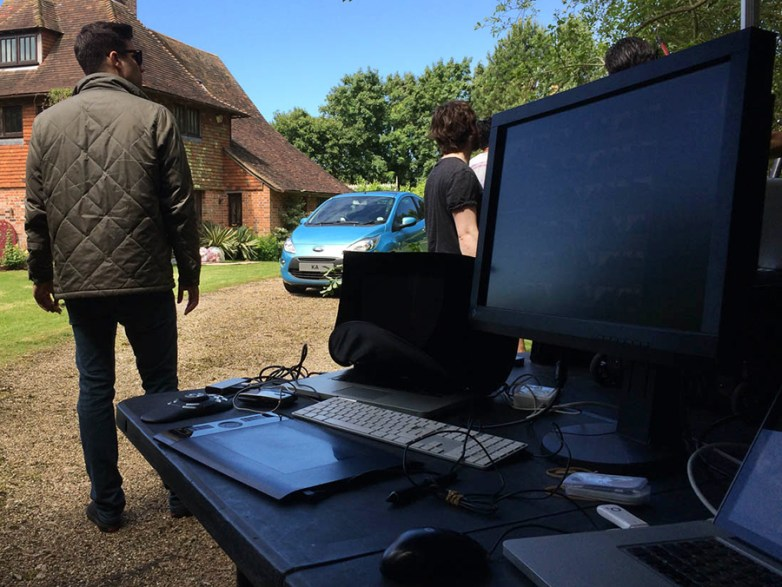 Recom Farmhouse on location with Wade Brothers