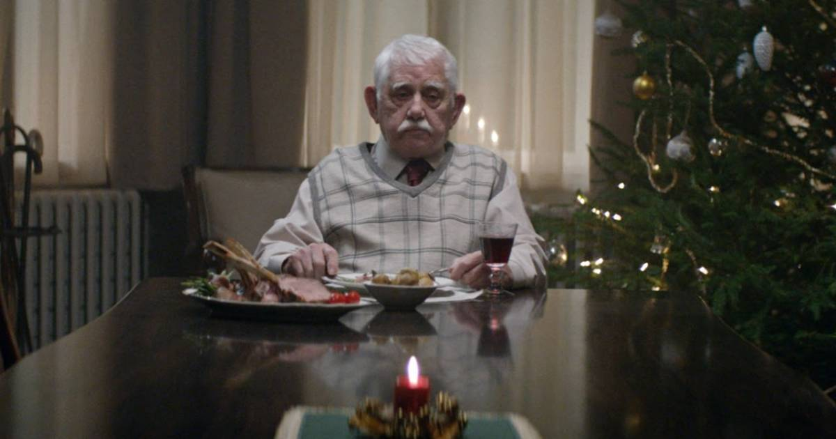 Old Man Alone Christmas Commercial