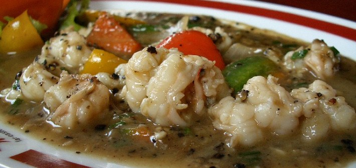 Hot Pepper Prawns