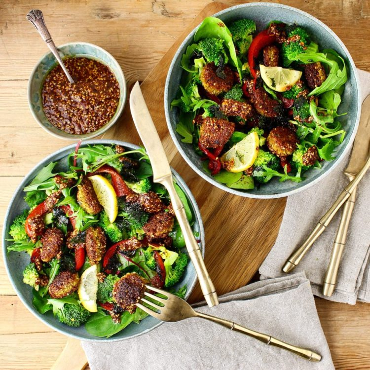 Spicy falafler med broccoli og persille - Vegansk opskrift - Mad med glød