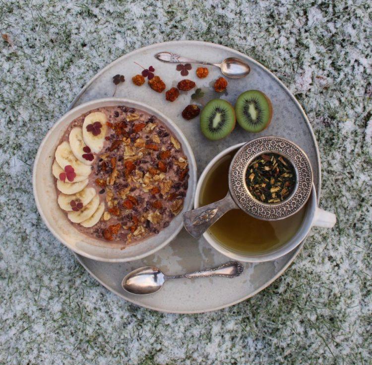 Kold kakao-chia-havregrød - Plantebaseret / Vegansk opskrift - Mad med glød