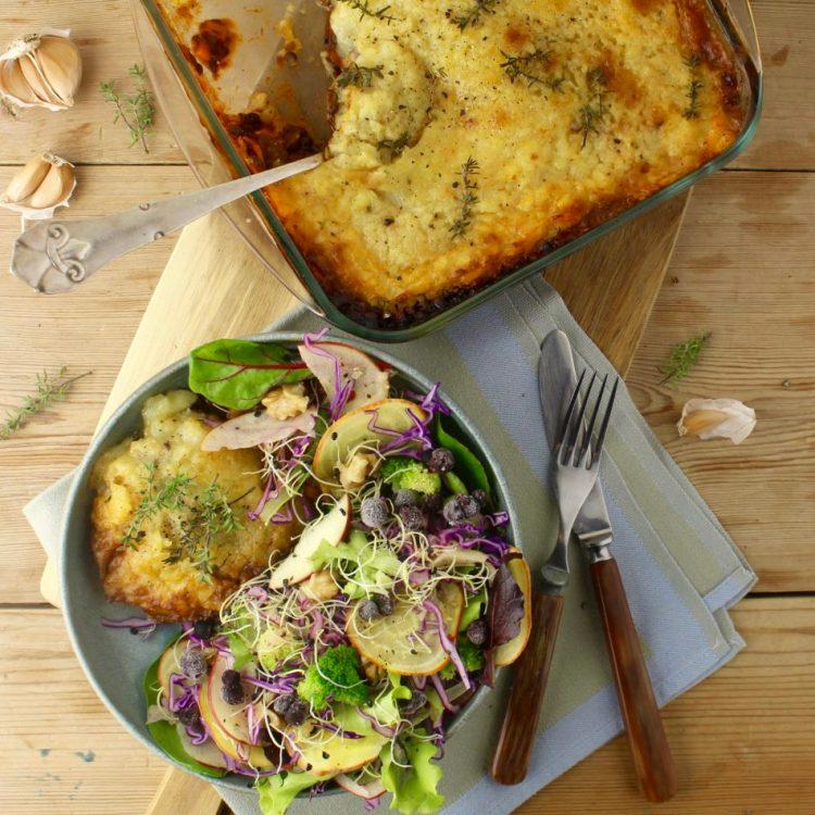 Gardeners Pie - Plantebaseret / Vegansk opskrift - Mad med glød