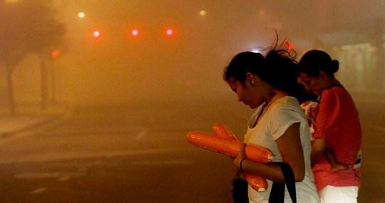 dust storm arizona street level