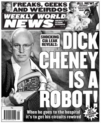 Weird robotic Cheney