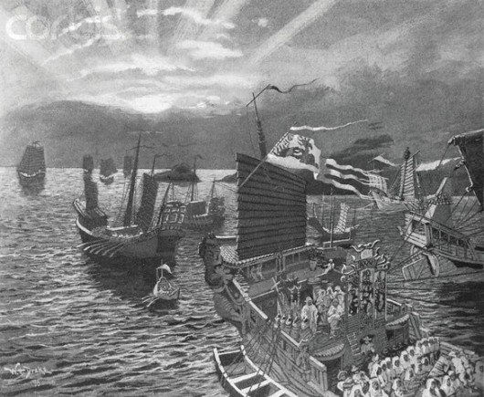 The Fleet of Kublai Khan Passing Through the Indian Archipelago by William Henry Drake