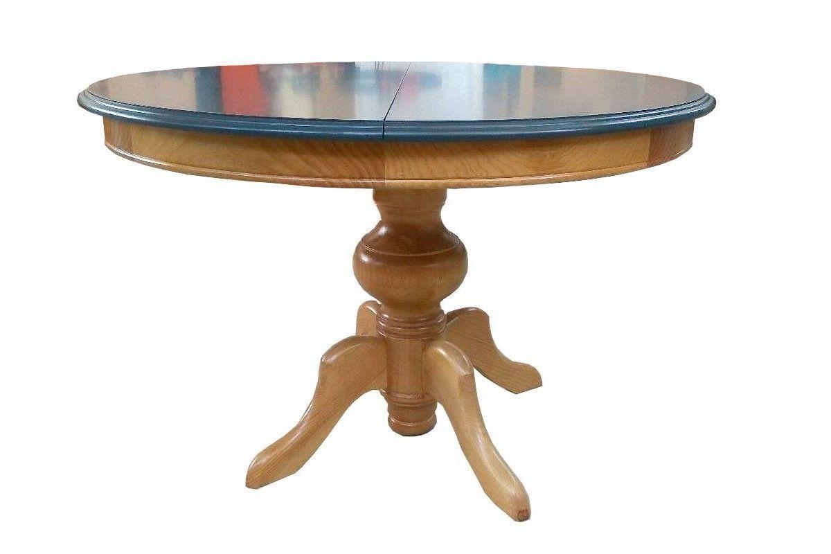 Mesas redondas clasicas con pie de pia gruesa y aro Madmues
