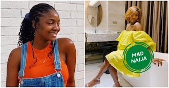 Love of my life - Adekunle Gold hails Simi as she shares first photo since the birth of their daughter
