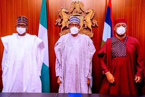 Femi Fani-Kayode posing with Buhari