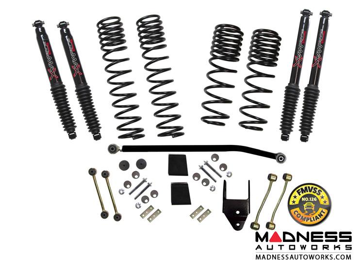 Jeep Wrangler JL Rubicon Travel Lift Kit System w/ Black