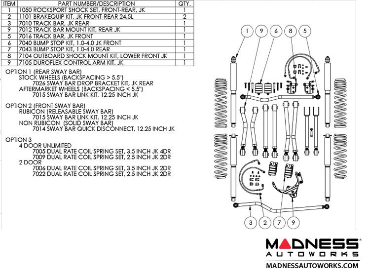 Jeep Wrangler JK Game-Changer Suspension 2.5