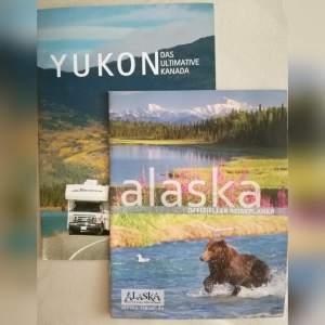 Info-Broschüren über Yukon Territory (Kanada) und Alaska