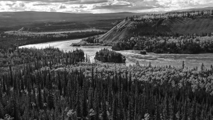 "Blick auf die ""Five Finger Rapids"" (Yukon Territory, Kanada)"