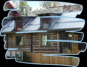 """Alchemy Cafe"" in ""Dawson City"" (Yukon Territory, Kanada)"