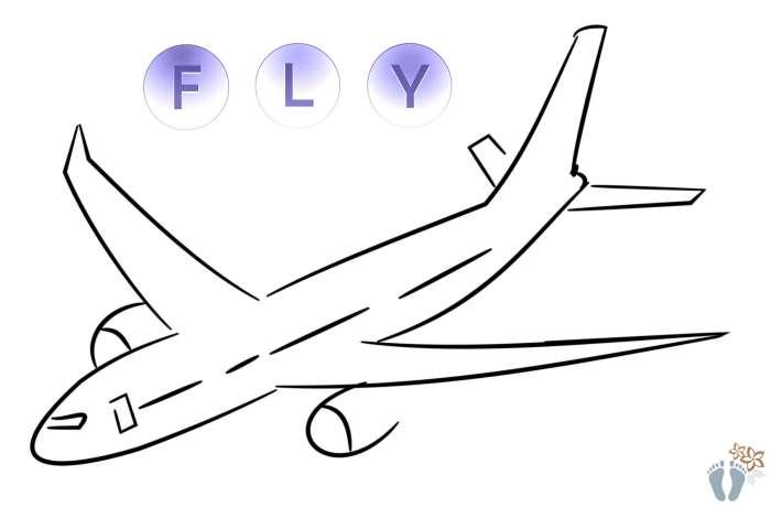 Flugzeug als Symbol für die lange Rückreise von «San José» über «Panama City» und «Frankfurt» nach «Wien»