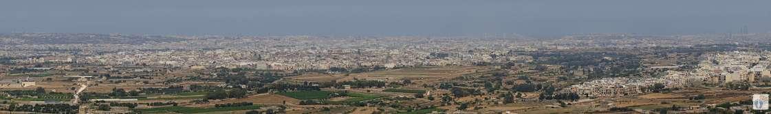 Reisetagebuch Malta: Tag 02: Blick vom «Laferla Cross» bei den «Buskett Gardens»