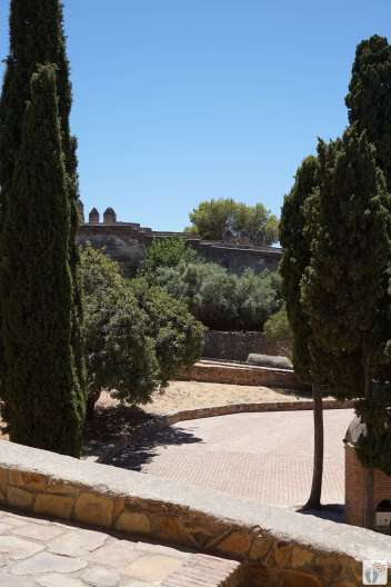 Málaga: Innenhof im «Castillo de Gibralfaro» {Andalusien Reisetagebuch}