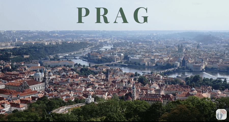 Ausblick über «Prag» - vom Aussichtsturm am «Petřín-Hügel» {Reisetagebuch Prag}