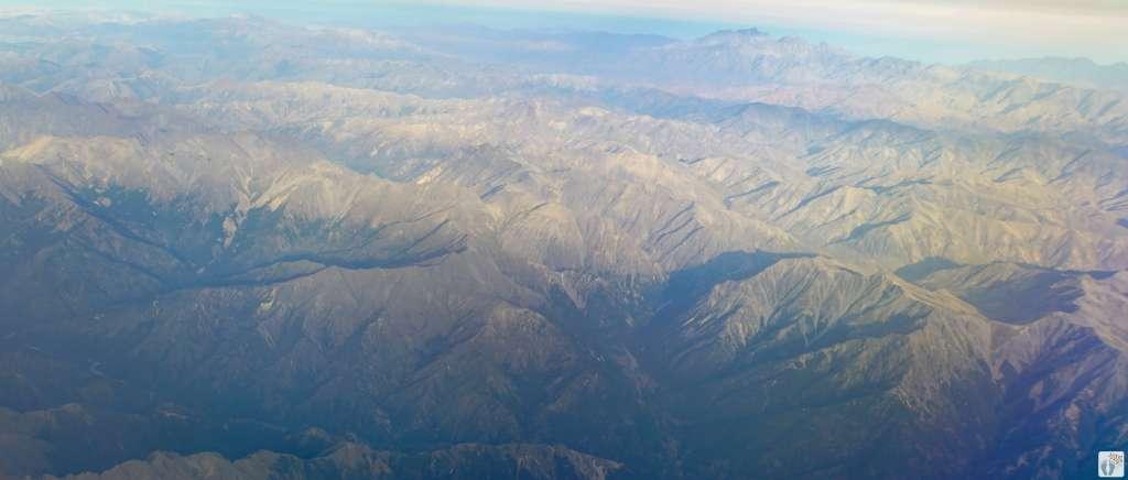 auf dem Flug von «Christchurch» nach «Nelson» {Reisetagebuch «Roadtrip durch Neuseeland mit dem Bus»}