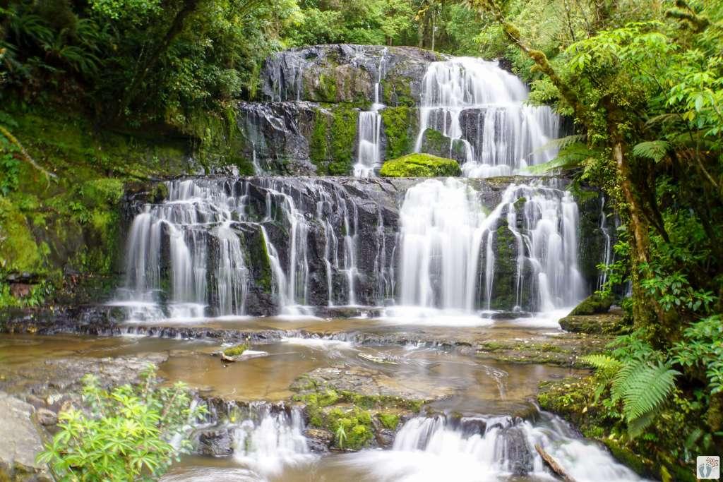 «Purakaunui Falls» {Reisetagebuch «Roadtrip durch Neuseeland mit dem Bus»: «Catlins Coast»}