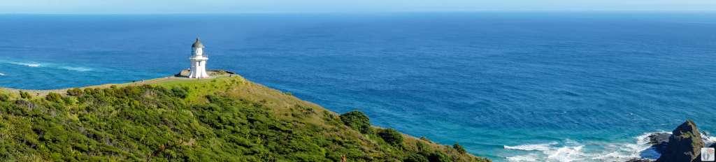 Cape Reinga Leuchtturm {Reisetagebuch «Roadtrip durch Neuseeland mit dem Bus»: Northland - Tapotupotu Bay}