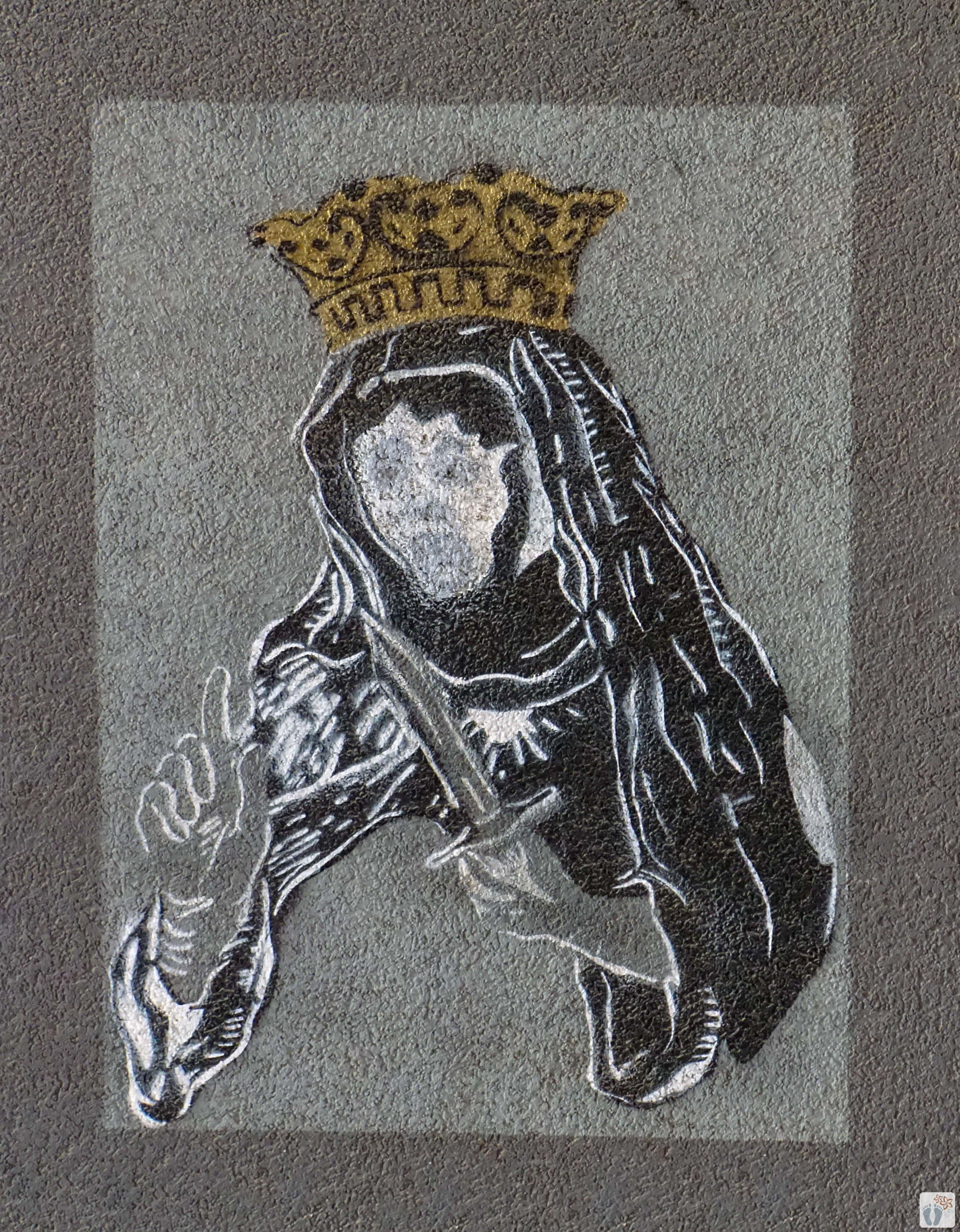 Street-Art #mahnende Königin mit Messer#_Tallinn - Estland