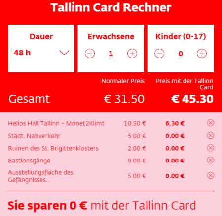Tallinn Card_Vergleich