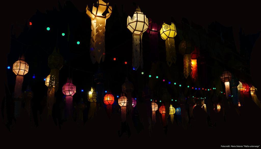 Papierlaternen - Yi Peng Lichterfest in Chiang Mai (Reisetagebuch «Thailand als Alleinreisende ohne Roller entdecken»)