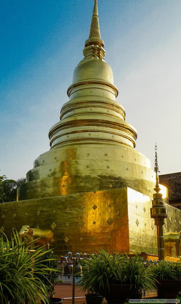 Wat Phra Singh in Chiang Mai: Big Chedi (Reisetagebuch «Thailand als Alleinreisende ohne Roller entdecken»)