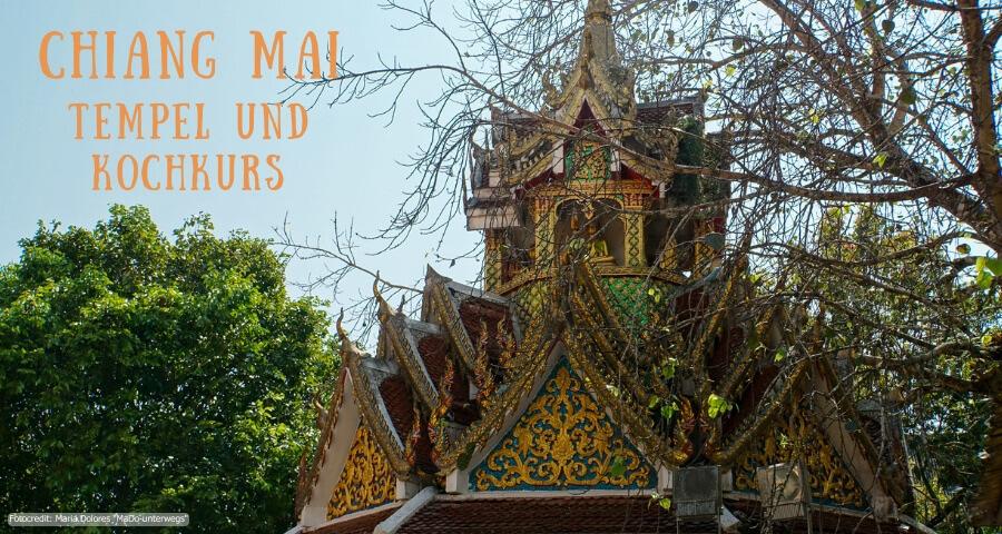 Wat Phra That Doi Suthep - Dach des Glockenturms_Chiang Mai (Reisetagebuch «Thailand als Alleinreisende ohne Roller entdecken»)