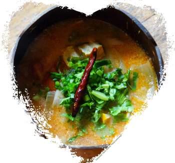 Zabb-E-Lee Thai Cooking School: hot and sour tofu creamy soup (Reisetagebuch «Thailand als Alleinreisende ohne Roller entdecken»)