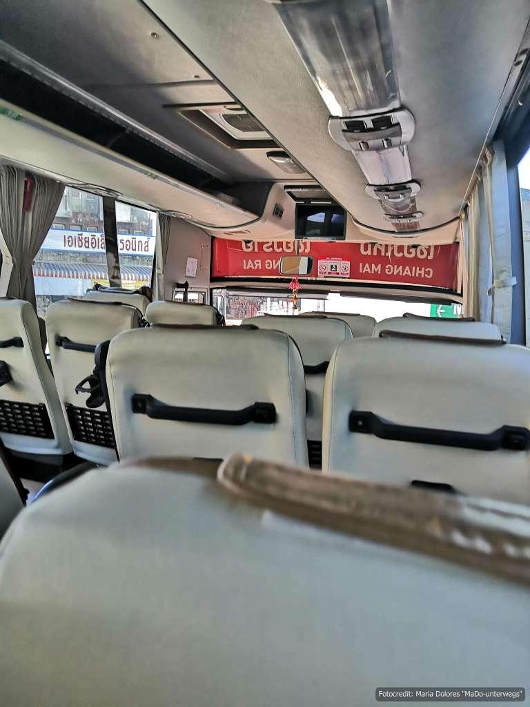 Blick in den Greenbus 1. Klasse (Reisetagebuch «Thailand als Alleinreisende ohne Roller entdecken»)