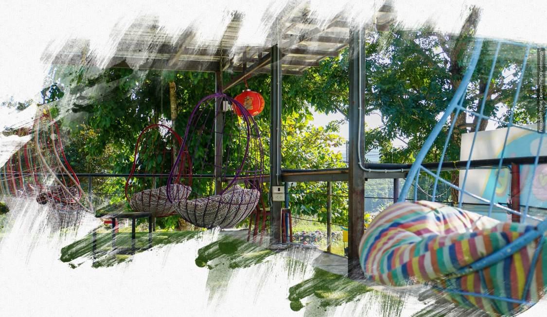 I love you Pai coffeehouse - Hängesessel (Reisetagebuch «Thailand als Alleinreisende ohne Roller entdecken»)