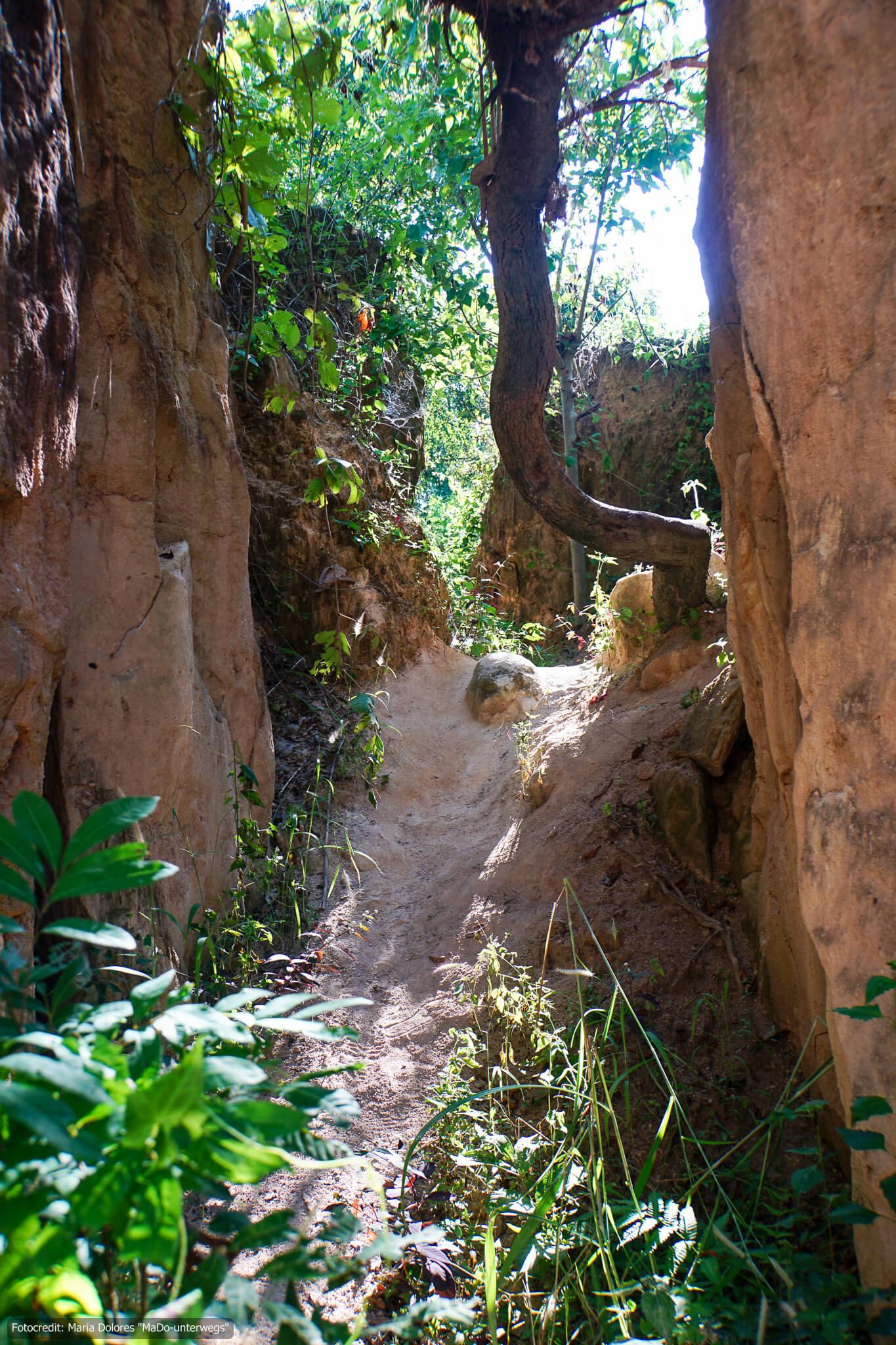 Land Split in der Nähe von Pai (Reisetagebuch «Thailand als Alleinreisende ohne Roller entdecken»)