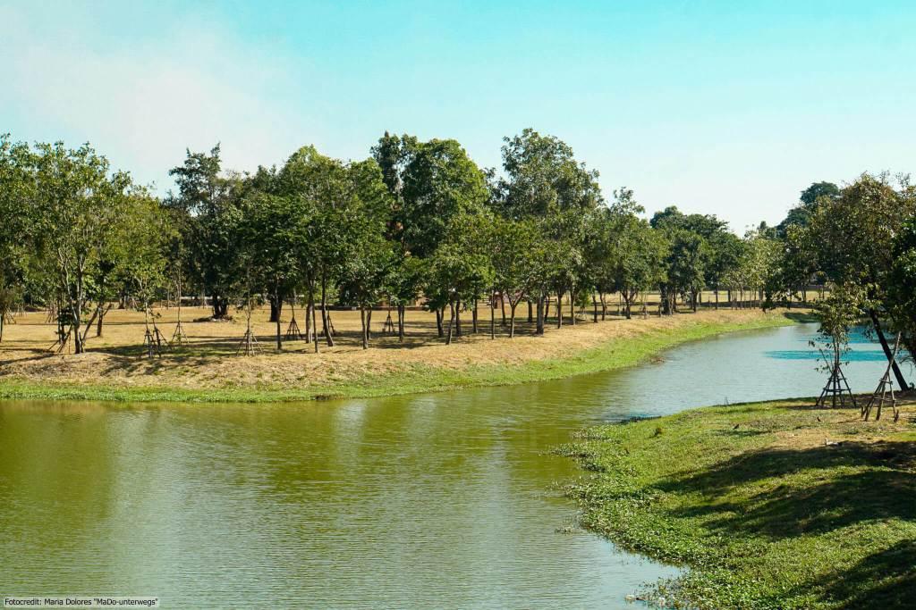 Rama Public Park in Ayutthaya (Reisetagebuch «Thailand als Alleinreisende ohne Roller entdecken»)
