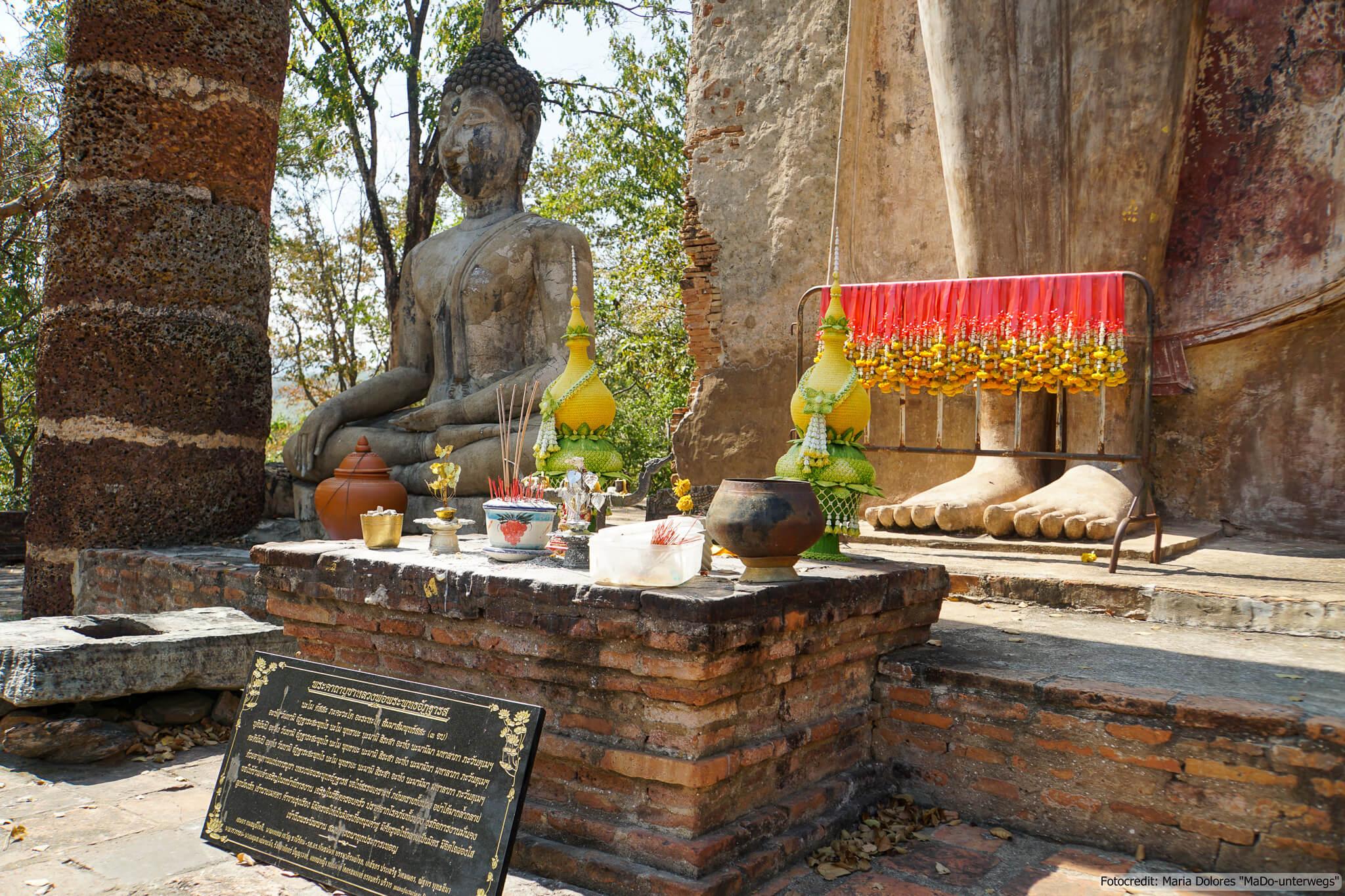 Wat Saphan Hin im Sukhothai Historical Park (Reisetagebuch «Thailand als Alleinreisende ohne Roller entdecken»)