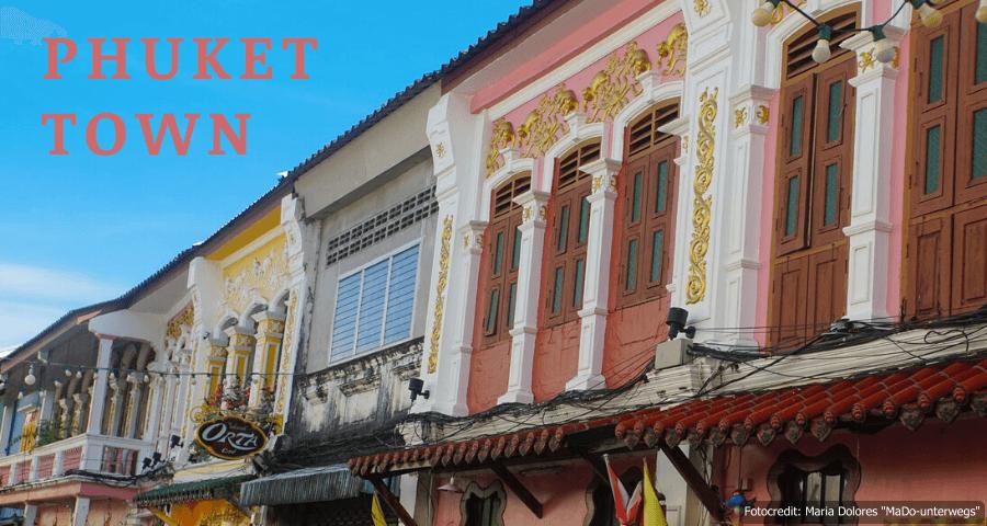 Überreste portugiesischer Kolonialarchitektur in Phuket Town (Reisetagebuch «Thailand als Alleinreisende ohne Roller entdecken»)