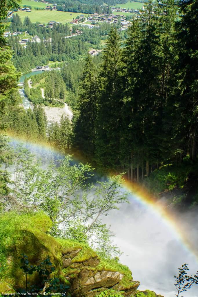 Krimmler Wasserfälle - mit Regenbogen_vom Aussichtspunkt Jaga-Sprung [10 Tage Roadtrip Salzburg]