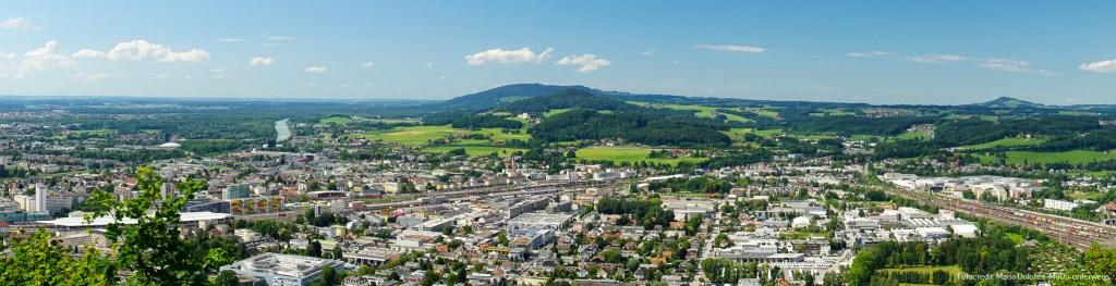 Panoramablick vom Franziskischlössl - Kapuzinerberg [10 Tage Roadtrip Salzburg]