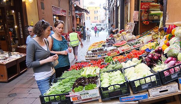 Market tour i Bologna