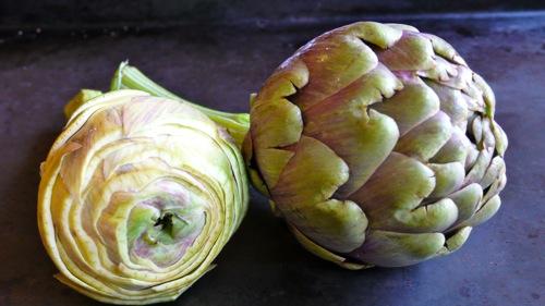 artichoke trimmed in a conical shape