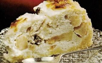 Ostetærte med æbler