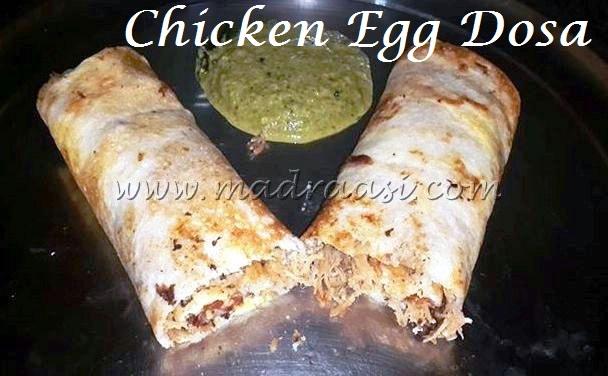 Chicken Egg Dosa