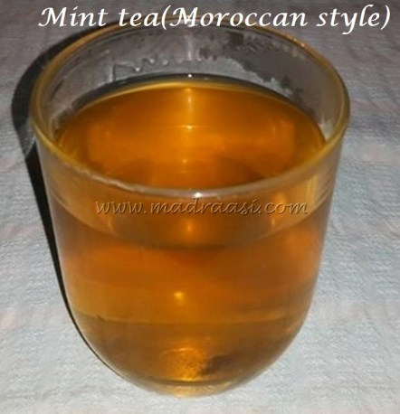 Mint tea(Moroccan style)